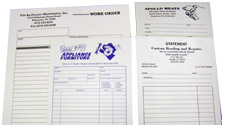 Have your business forms printed at M&M Printing